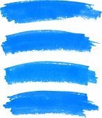 pic of dab  - Vector spot of paint drawn by blue felt pen - JPG