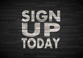Sign Up Today Sign  On Noble Stone Texture