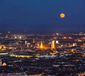pic of munich residence  - Night aerial view of Munich from Olympiaturm  - JPG