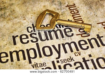 Resume And Golden Key