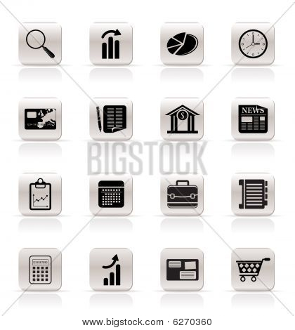 Simple and Office Realistic Internet Icons