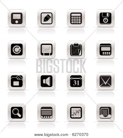 Simple Business, Office and Finance Icons