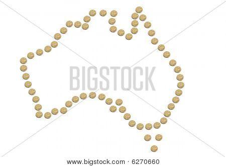 Australia Made Of Coins