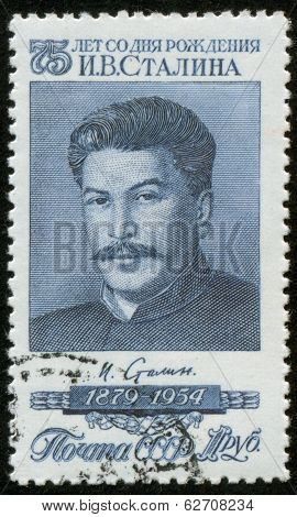 Stamp With Stalin Portrait