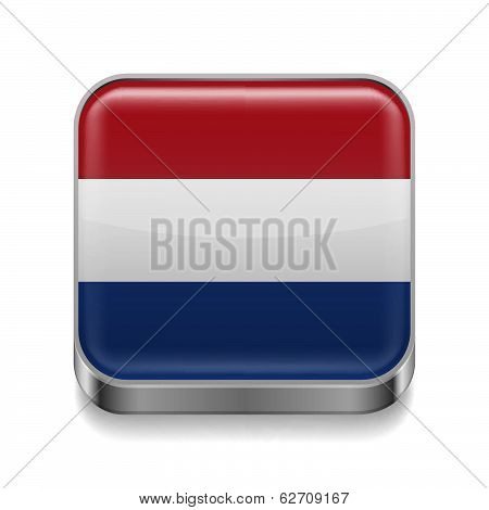 Metal  icon of Netherlands