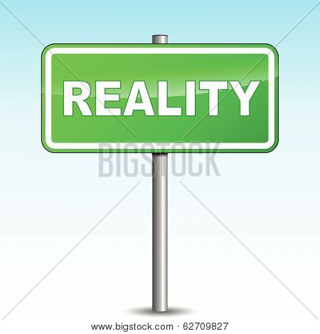 Reality Green Signpost