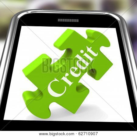 Credit Smartphone Shows Borrowing Cash Or Money