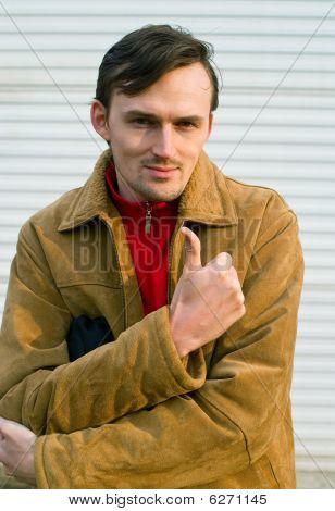 Men Showing Thumbs Up