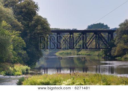 Railway Bridge Across The River