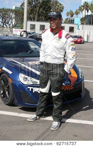 LOS ANGELES - APR 1:  Corbin Bleu at the Toyota Grand Prix of Long Beach Pro/Celebrity Race Press Day at Long Beach Grand Prix Raceway on April 1, 2014 in Long Beach, CA