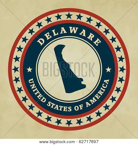 Vintage Label Delaware