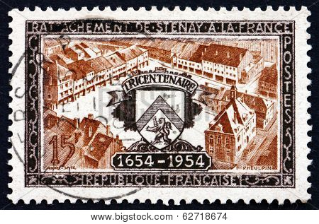Postage Stamp France 1954 View Of Stenay