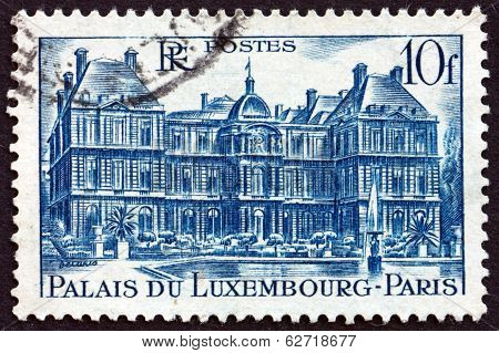 Postage Stamp France 1946 Luxembourg Palace, Paris