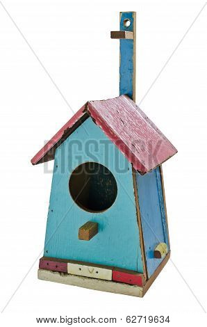 Colorful Wooden Bird House