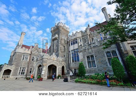 TORONTO, CANADA - JULY 3: Casa Loma exterior view on July 3, 2012 in Toronto, Canada. Built 1911-C1914 and was Established as museum 1937, it was the largest private residence in Canada.