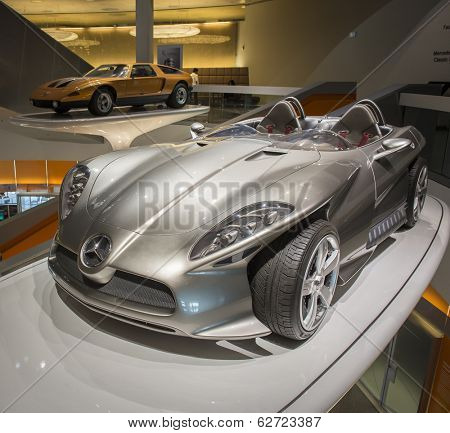 STUTTGART, GERMANY - MARCH 30, 2014:  Interior of  museum