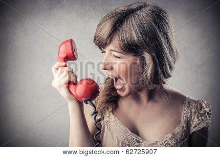 screaming at the phone