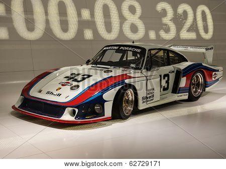 STUTTGART, GERMANY - CIRCA APRIL, 2014: Porsche Museum. PORSHE 935\78 Moby Dick (1978)