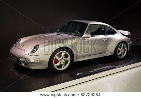 STUTTGART, GERMANY - CIRCA APRIL, 2014: Porsche Museum. PORSHE 911 Turbo 3.6 (1997)