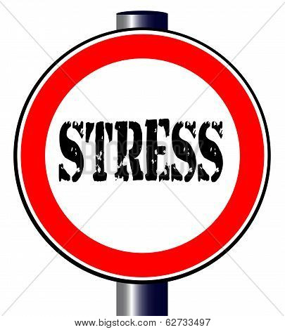 Stress Traffic Sign