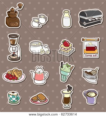 Coffee Shop Element Stickers