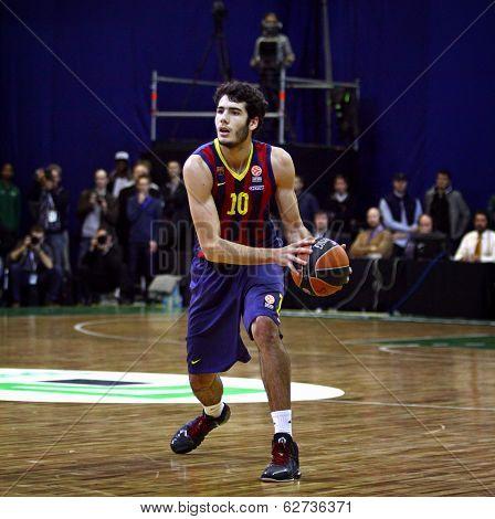 Alejandro Abrines Of Fc Barcelona