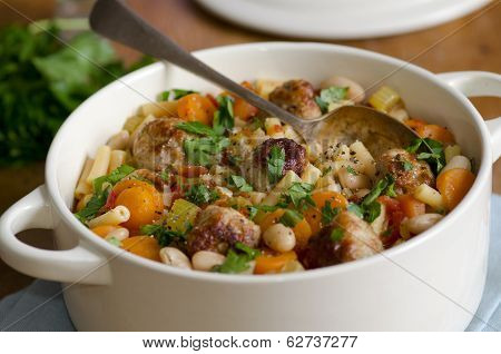 Meatball And Pasta Stew