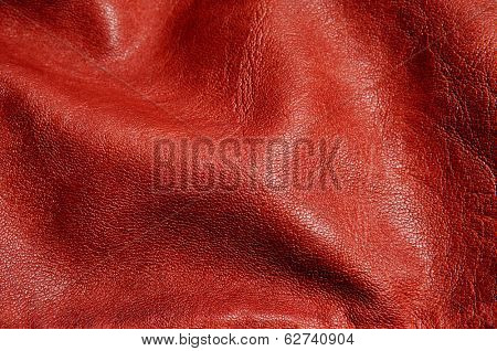 background made of a closeup of wrinkled brown leather