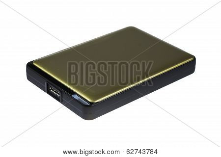 External Harddisk On White Background