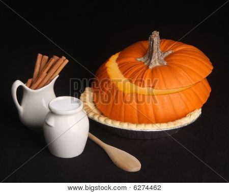 Do It Yourself Pumpkin Pie With Copy Space