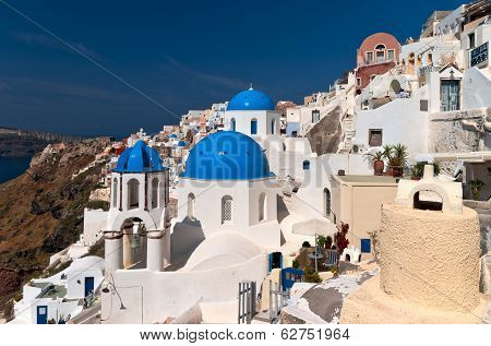 Santorini Blue Cupola Church