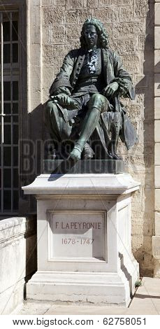 MONTPELLIER, FRANCE - AUGUST 14: Statues of Peyronie at the Faculty of Medicine of Montpellier on august 14, 2013 in Montpellier