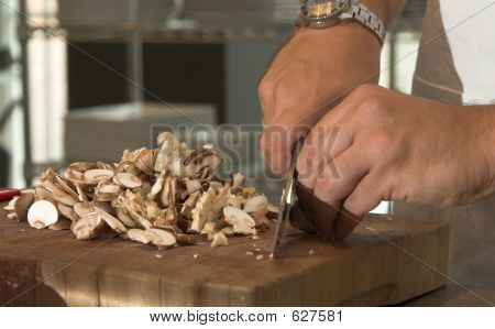 Chopping The Mushrooms