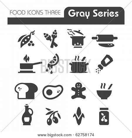 Food Icons Gray Series Three