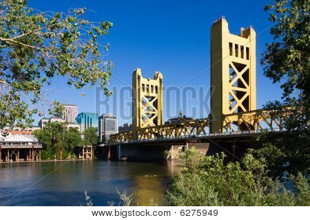 Tower Bridge in Sacramento California