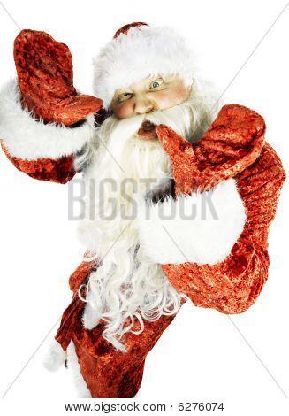 Papai Noel Contorts caneca engraçada