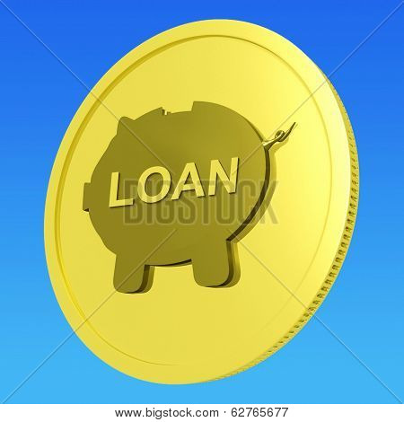 Loan Coin Means Credit Borrowing Or Investment
