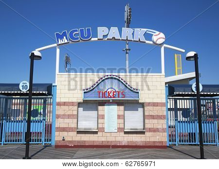 MCU ballpark ticket booth in the Coney Island section of Brooklyn