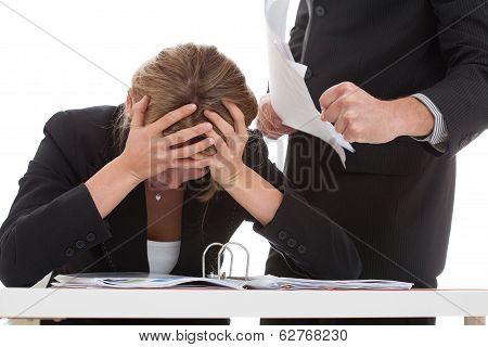 Boss Bullying His Employee