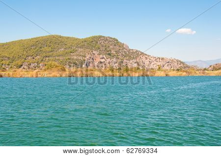 Mountain At The River, Turkish Landscape.