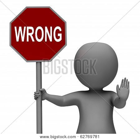 Wrong Stop Sign Means Stopping Incorrect Mistakes