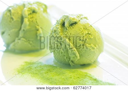 Home Made Green Tea Ice Cream