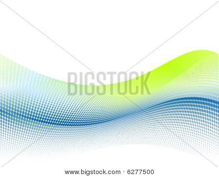 Fundo de onda dinâmica