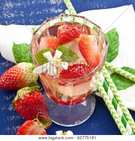 Homemade Lemonade With Strawberries
