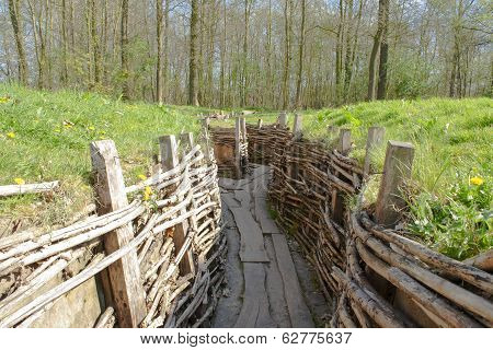 Bayernwald German Trenches Great World War Flanders Belgium