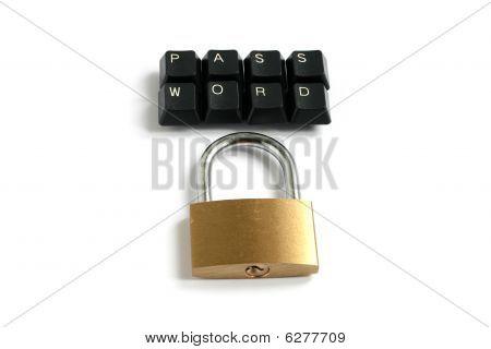 Kennwort Tastatur Tasten 2 Linien mit Vorhängeschloss