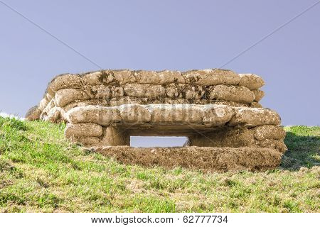 Bunker With Loophole Trenches Of Death In  Dixmude Flanders Belgium Great World War