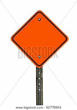 Blank Diamond Construction Sign