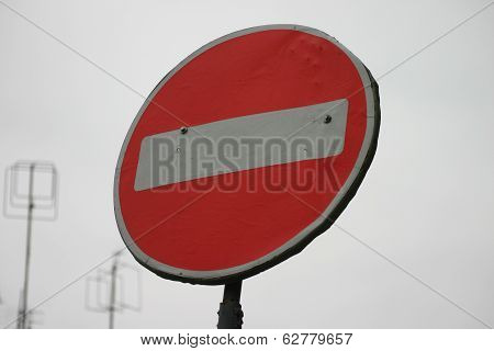 road sign no entry