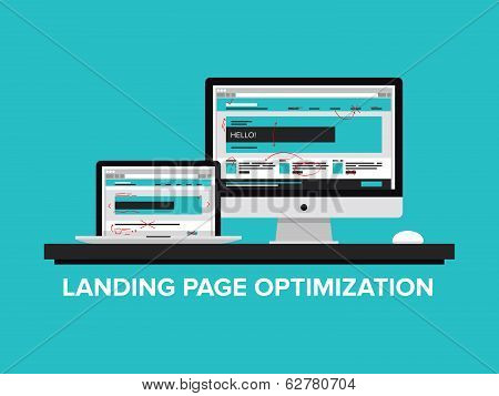 Landing Page Optimization Concept